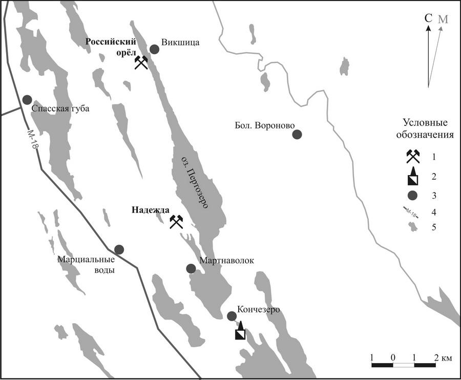 Расположение рудников