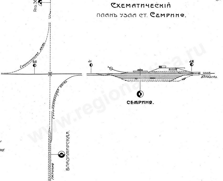 Схема развития станции Сёмрино